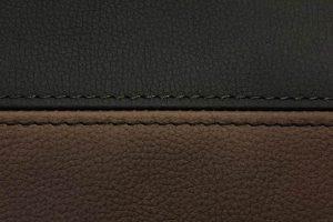 Buffalino-Leder-Chocoladebruin-en-Zwart-dubbel-stiksel-300x200
